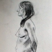 Female nude from side