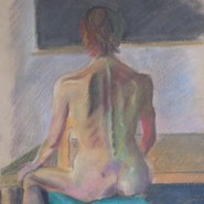Seated nude in color